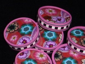 Polymer Clay Drum Beads